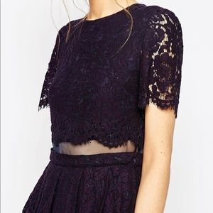 ASOS | Black Lace Crop Top Dress